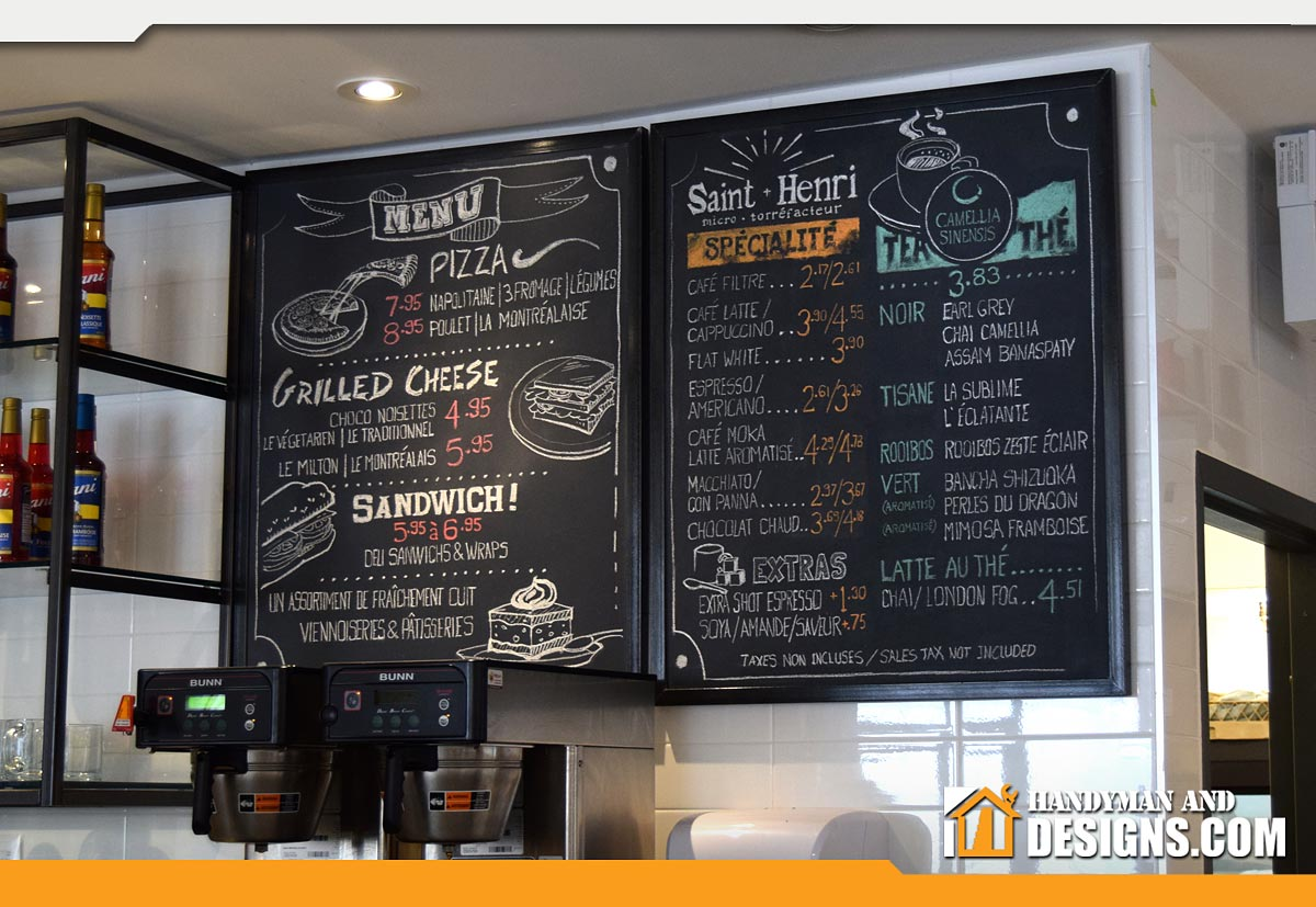 Chalkboard Menu Designs img-1