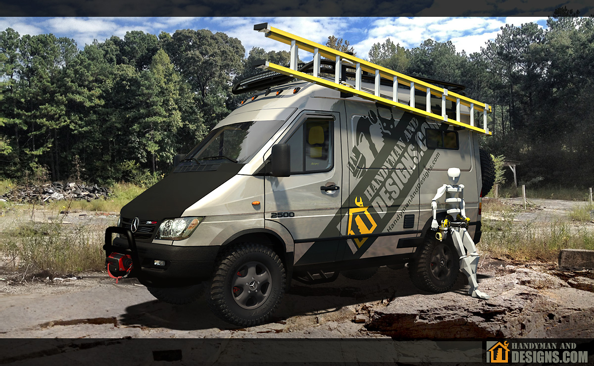 Dodge Sprinter Campervan 3D Design img-1