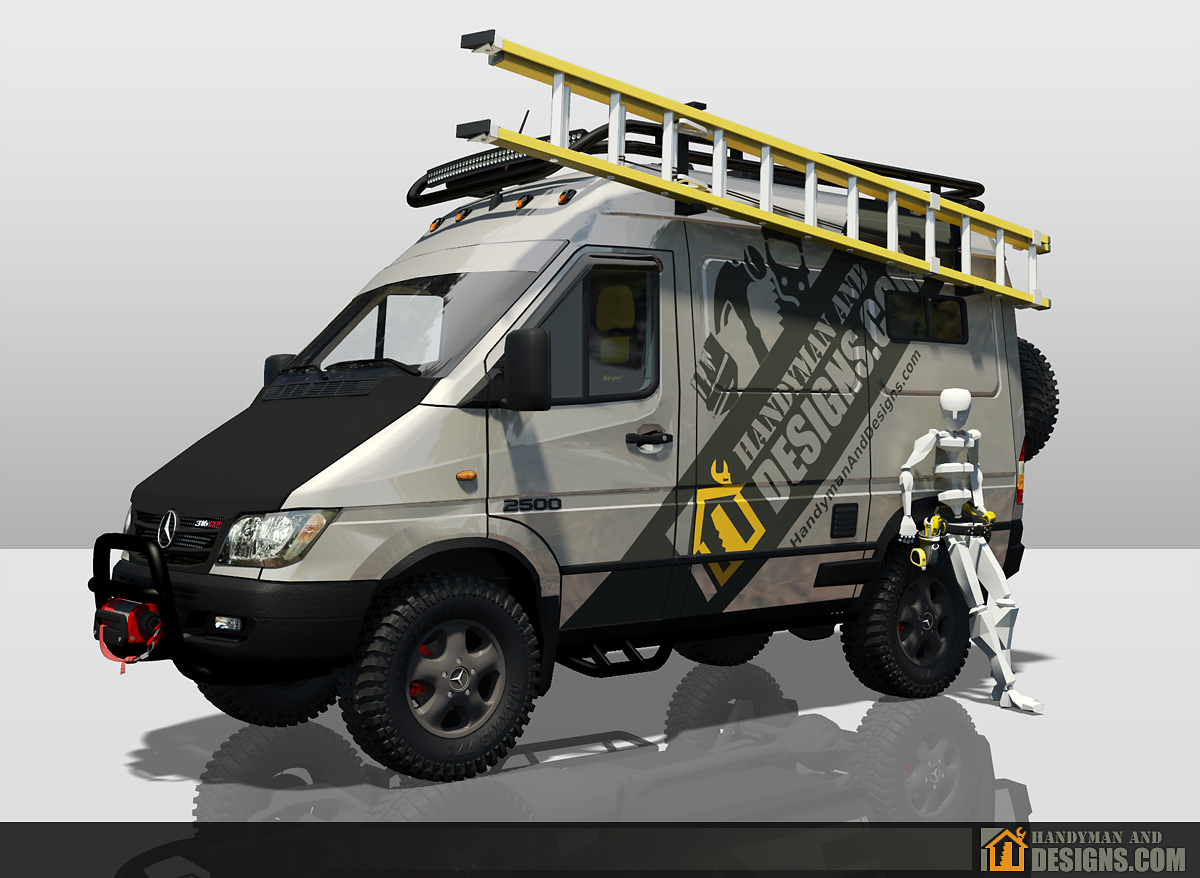 Dodge Sprinter Campervan 3D Design img-2