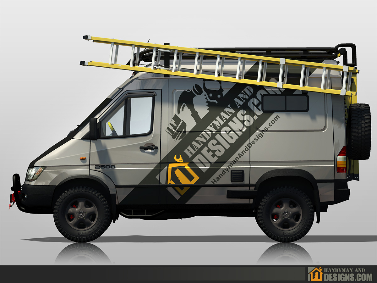 Dodge Sprinter Campervan 3D Design img-3