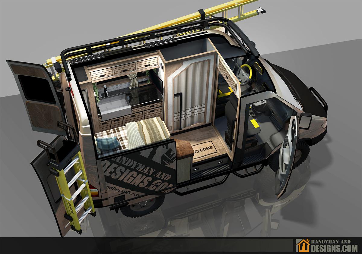 Sprinter Camper Van >> 3D Design - Dodge Sprinter Campervan | Handyman and Designs