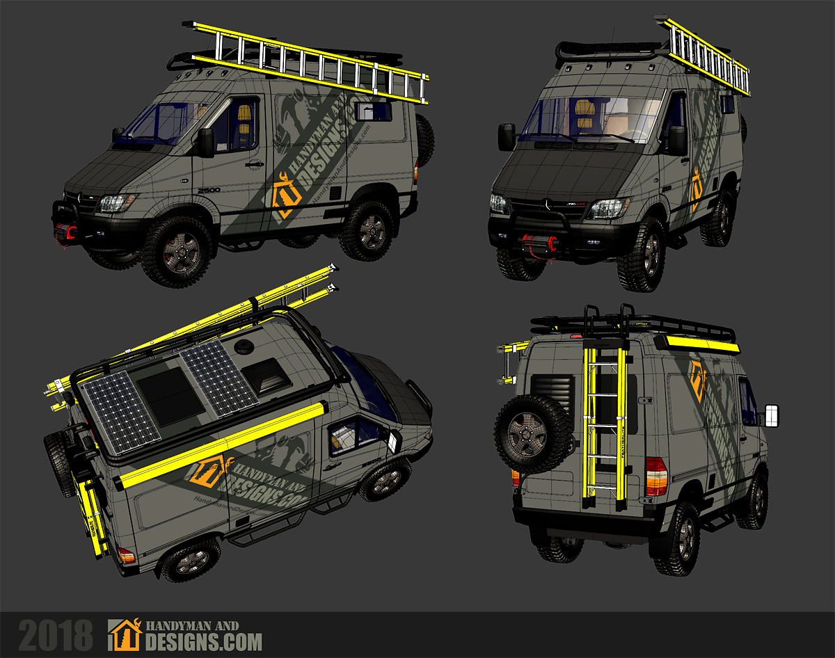 Dodge Sprinter Campervan 3D Design img-6