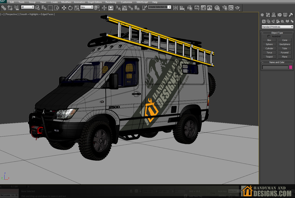Dodge Sprinter Campervan 3D Design img-10